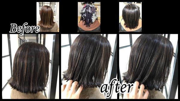 大阪豊中でハイライトと本田オリジナルグレージュで作るお洒落な外国人風カラー【ちさとさん】の髪