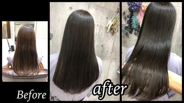大阪豊中でブリーチなしの土台から一回染めで作るアッシュグレー【いちごさん】の髪