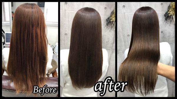 大阪豊中で白髪を染めながら透明感ラベンダーアッシュで作る外国人風カラー【ようこさん】の髪