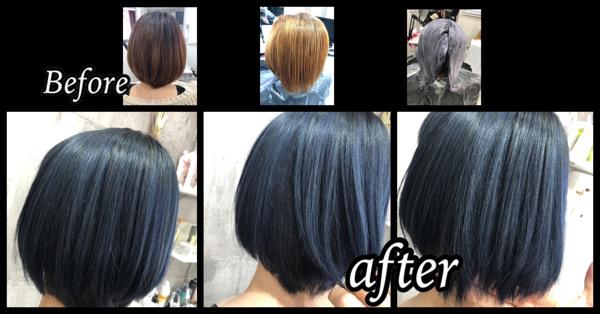 大阪豊中でブリーチからのしっかりブルーラベンダーを発色させよう!!【やすはさん】の髪