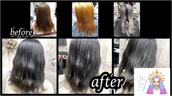 大阪豊中カラトリでブリーチからの濃厚なグレーラベンダーで作るお洒落な透明感カラーが人気!【ふうかさん】の髪