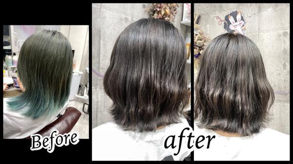 豊中で劇的Before/afterの外国人風カラーミルクティーベージュ【こはるさん】の髪