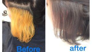 インナーカラーを綺麗に仕上げるやり方はこれだ!【えりかさん】の髪。